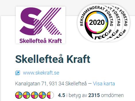 Skellefteå Kraft på Reco.se